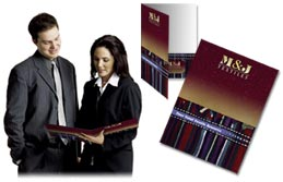 Presentation folder, pocket folder, folder printing